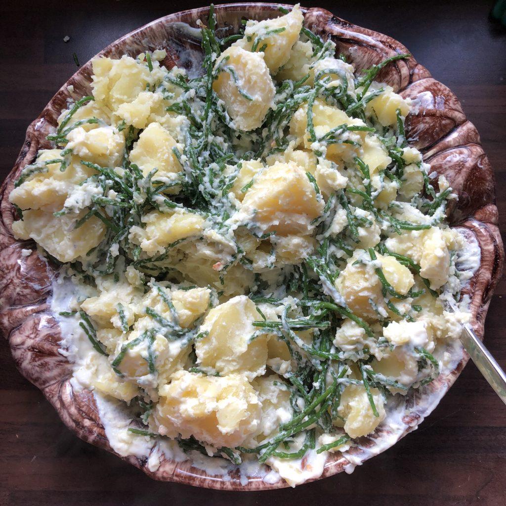 Griekse zeekraal met aardappelen