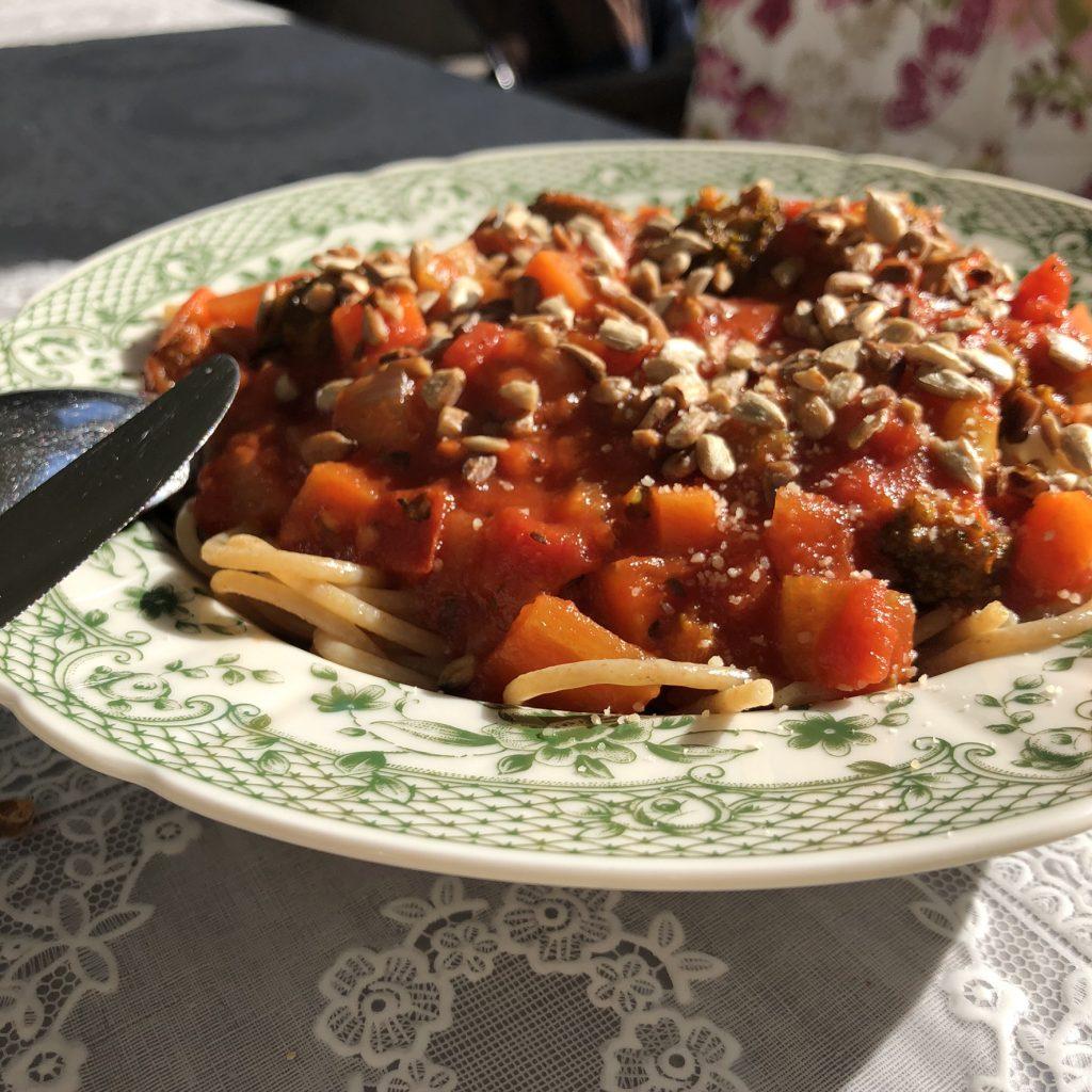 Vegetarische spaghetti