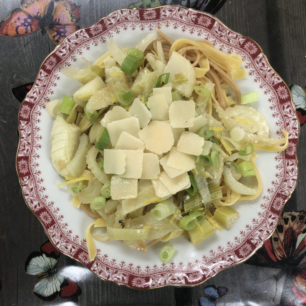 Venkel en citroen met pasta