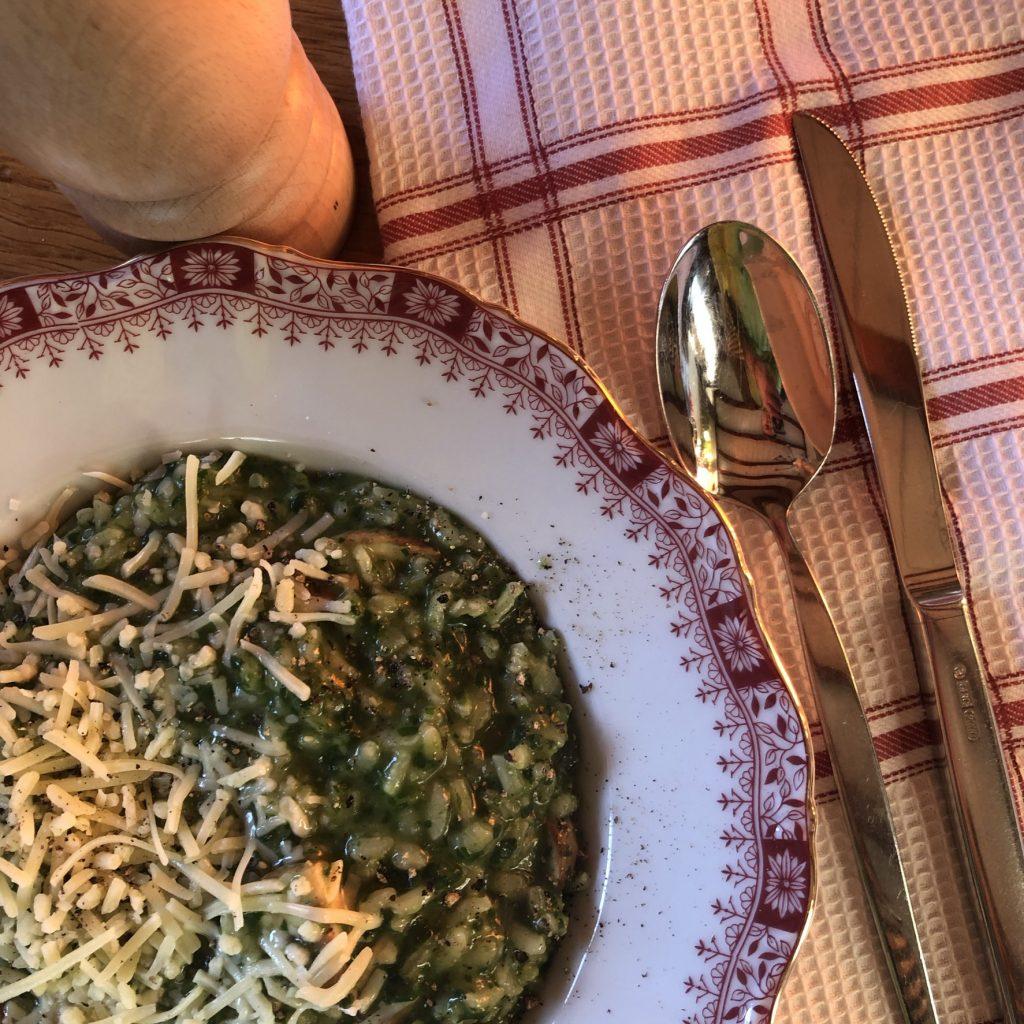 Risotto met spinazie